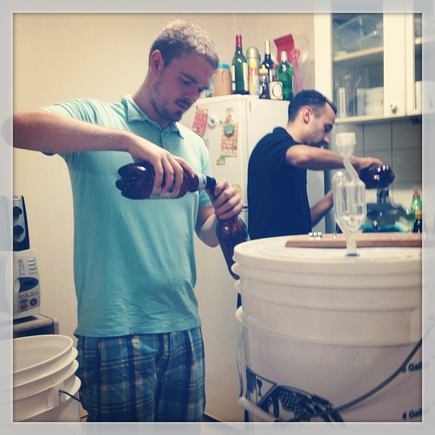 John brewing beer Korea
